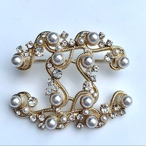 Authentic CHANEL Crystal Brooch